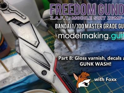 SKILL LEVEL 4: MG Freedom Gundam Ver. Wolf Part 8: Decals and Gunk Wash