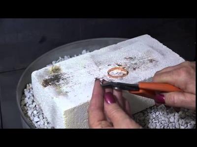 Soldering a Copper Cuff with a Cabochon