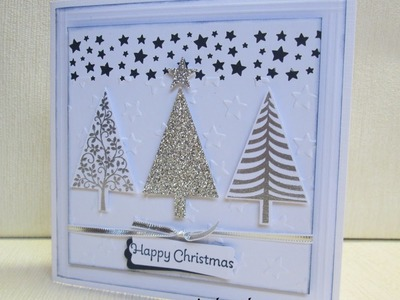 Stampin Up festival of trees and confetti star punch