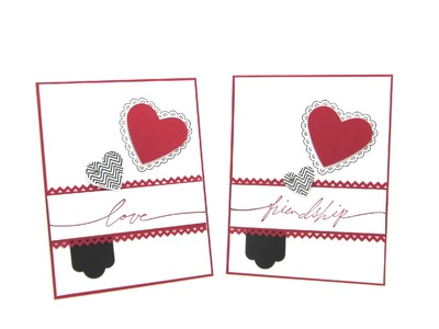 Stampin' Up! Hearts a Flutter Card for Valentine's Day