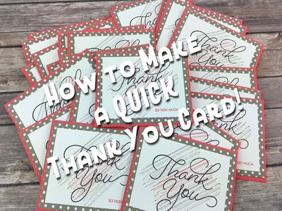 Stampin' Up! So Very Much Sale-a-bration Card! Episode 549!!
