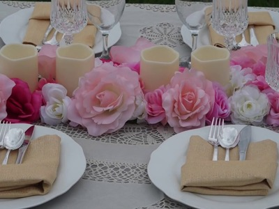 Table Runner. DIY. How to Create this Rose  Infinity Table Runner  for Under $20!