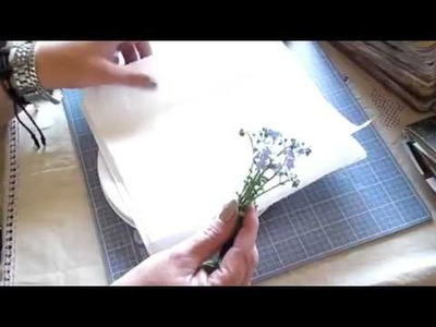 Tip on how to preserve flowers for your journal