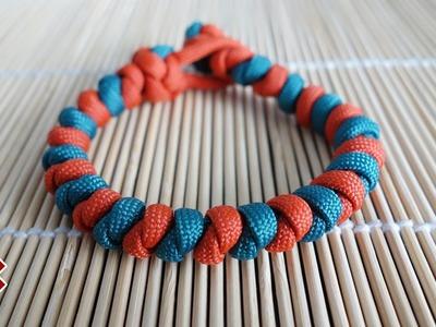 Two Color Natrix Snake Knot Paracord Bracelet