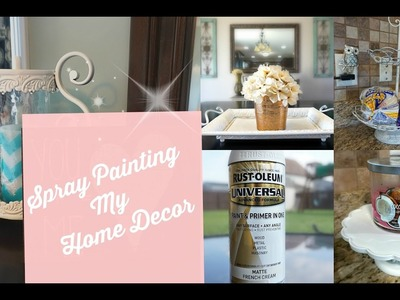 Updating My Home Decor~ Spray Painting My Decor Pieces for an Updated Look!