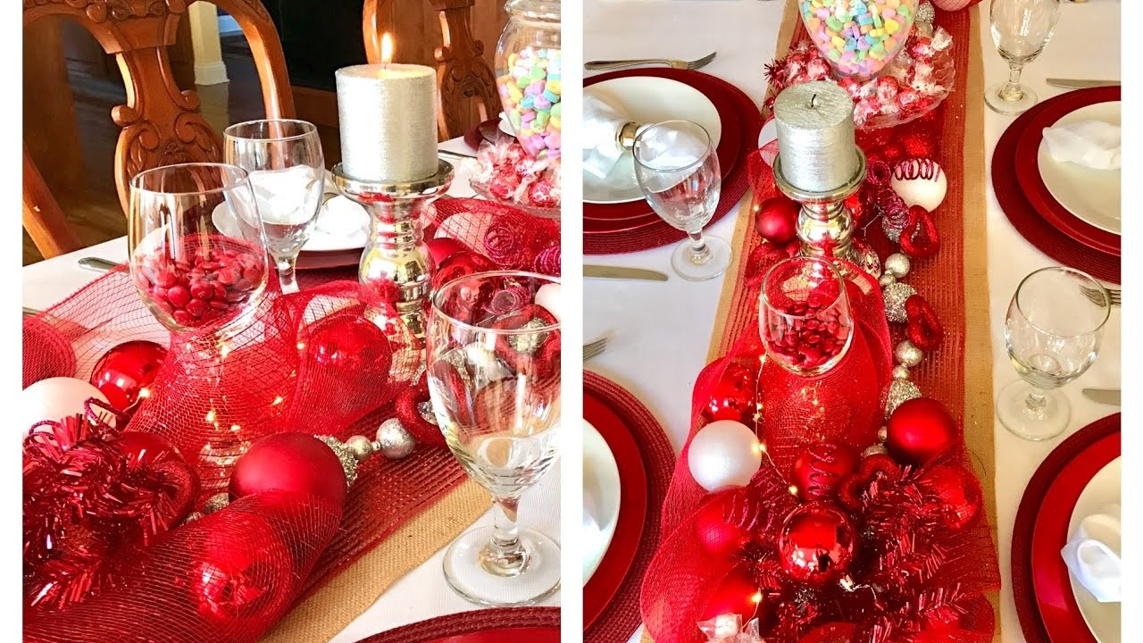 Valentine's Day Dinner Table Setting Tablescape Decor