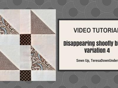 Video tutorial: Disappearing shoofly block - variation 4