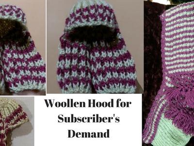 Woollen hood.Scarf.Muffler for Ladoo Gopalji or Girls or Ladies in Hindi on subscriber's demand