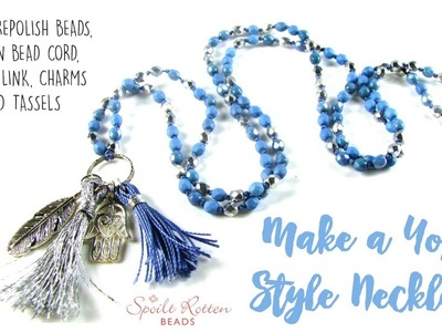 Yoga Style Necklace - Knotted Beads