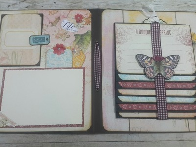 #1 DT on a Whimsical Adventure  using SPRING + EX LIBRIS kit
