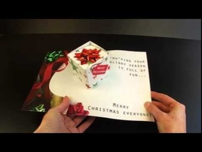 3D CUBE CARD | Pop up card containing 3D box