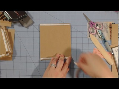 5 x 5 mini album tutorial | Part 1| Construction of pages.Album