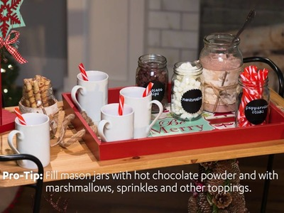 At Home | Wintertime Warmth! | Hot Cocoa Bar Cart