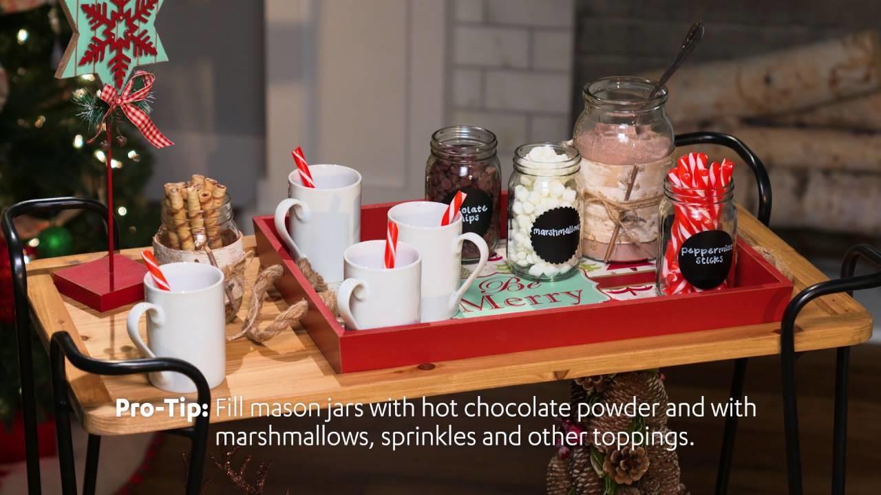 At Home | Wintertime Warmth! | Hot Cocoa Bar Cart