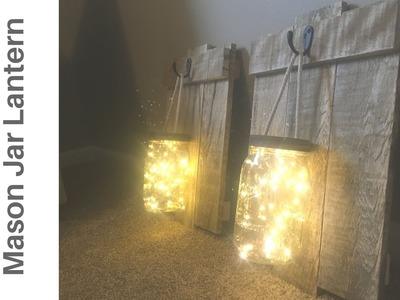 Awesome DIY Rustic Mason Jar & Pallet Wood Lantern Sconce