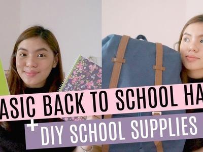 BASIC BACK TO SCHOOL HAUL + DIY SCHOOL SUPPLIES | GELA