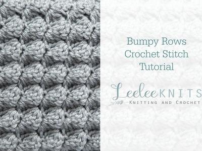 Bumpy Rows Crochet Stitch