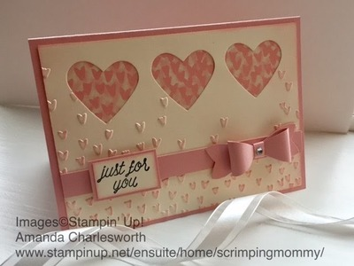 """Coffee and a """"falling in love: card using Stampin' Up! products"""