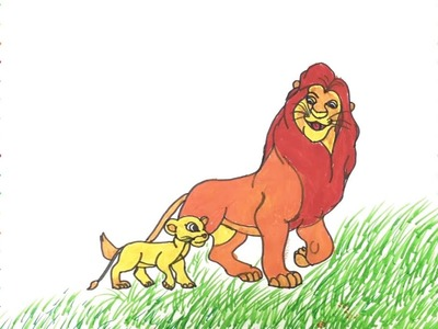 Coloring Pages Lion King | How To Draw Lion King | Art Colors for Kids | Learn Colors