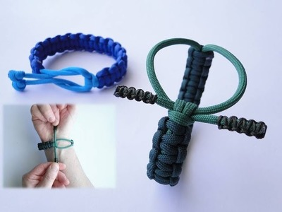 """""""Cow Hitch"""" Adjustable Paracord Survival Bracelet by CbyS-DEMO TRAILER (a day before tutorial)"""