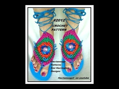 CROCHET pattern - FLIP FLOP COVERS, summer crochet projects, granny square motif, #2012