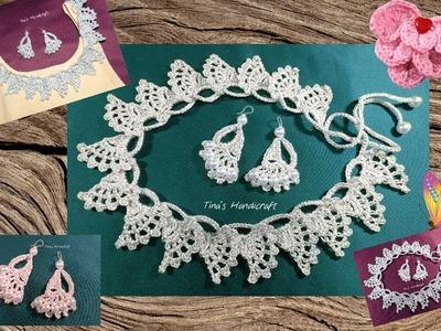 Crochet stitch No 40 -  necklace  &  earrings