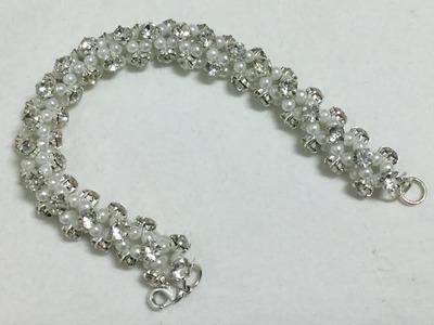 Crystal Rhinestone and pearl Bracelet