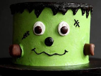 Cute Frankenstein Layer Cake