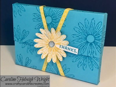Daisy Delight - Flip Top Card Box - Video Tutorial with Stampin' Up Products