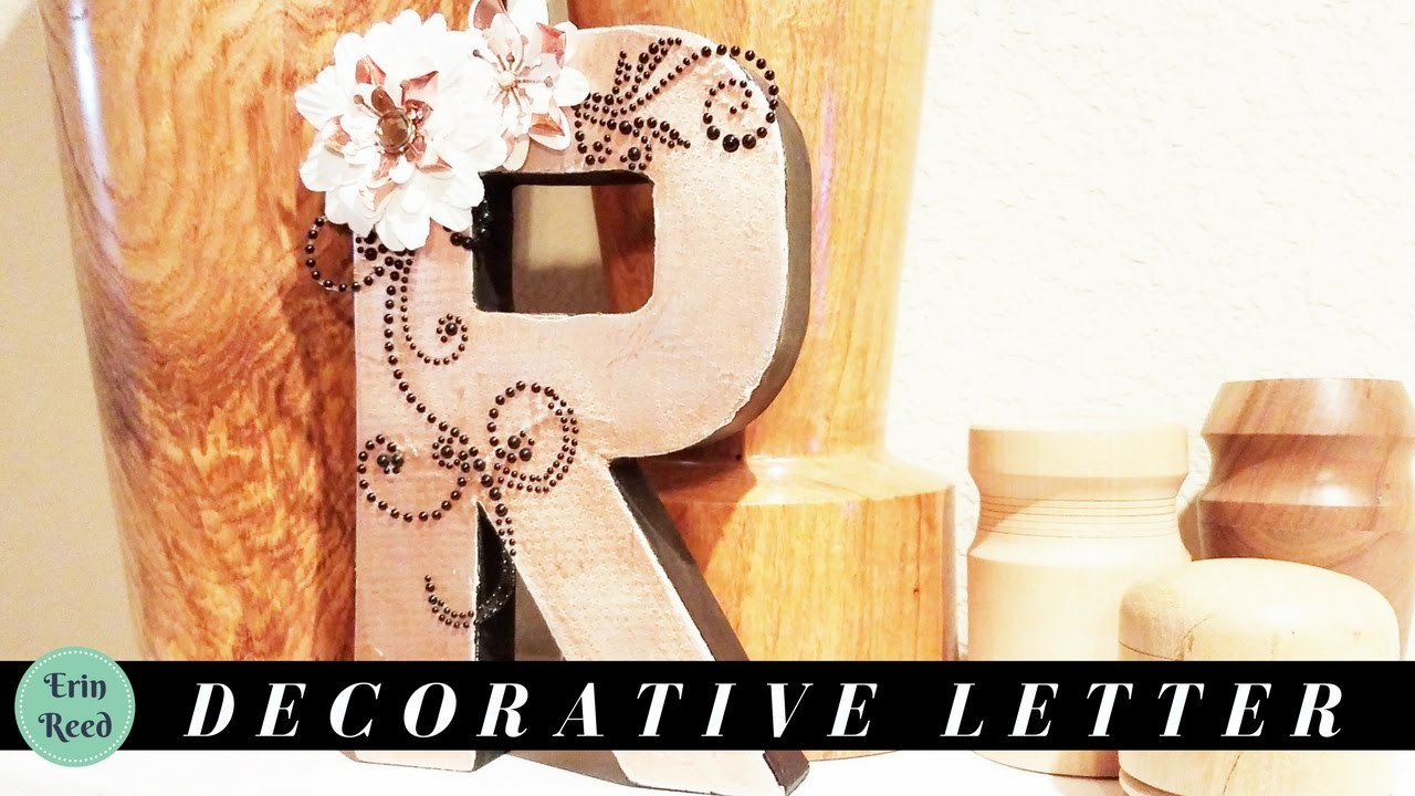 Decorative and elegant home decor letter my crafts and for Elegant home decor