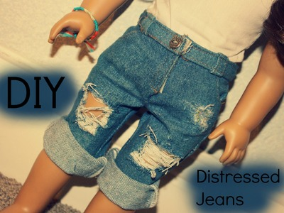 DIY DISTRESSED JEANS FOR AG DOLLS