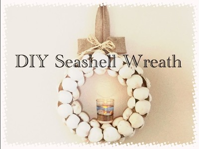 DIY Dollar Tree Seashell Wreath with Votive LED Candle - In Collab with Abellee25