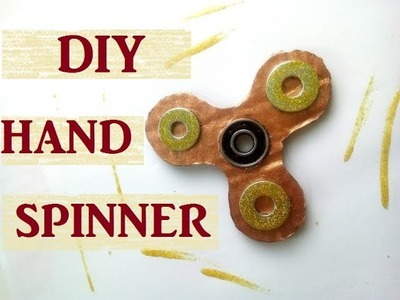 DIY hand spinner en carton facile
