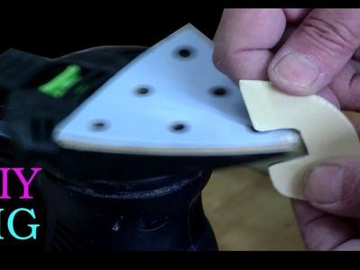 DIY JIG for sanding small parts - delta sander upside down