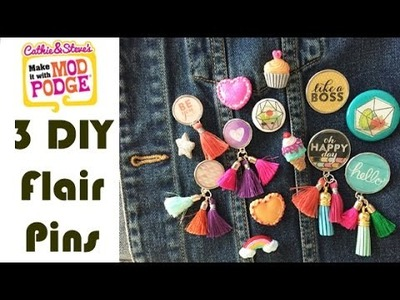 DIY Shopkins Inspired Flair Pins and Buttons