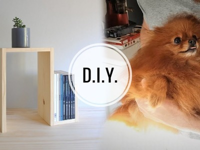 DIY SIDE TABLE (& THE CUTEST PUPPER)
