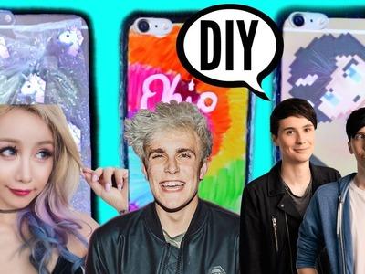 DIY Youtuber Inspired Phone Cases Wengie, Jake Paul, Dan and Phil | pastella28