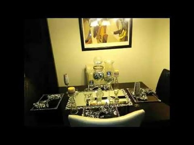 Dollar Tree Black & White Simple Table Setting