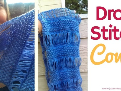 Drop Stitch Knitted Cowl - Knitting a Dropstitch Scarf - Knit Dorp Stitch