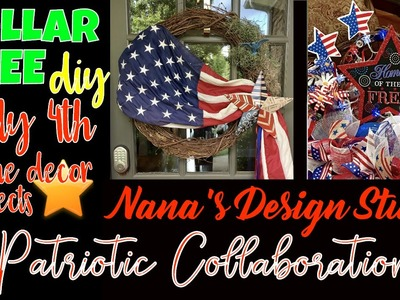 EASY DOLLAR TREE DIY for July 4th: Patriotic Wreath & Table Wreath - EZ Home Decor DIY