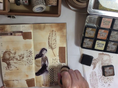 Easy, Fun, Relaxed way to Decorate Planner Pages in a Travelers Notebook