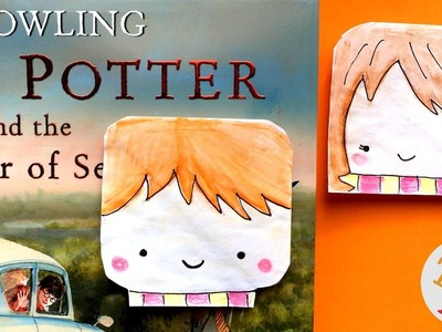 Easy Hermione Bookmark - Ron Bookmark - How to draw Hermione