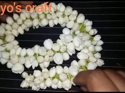 Easy method to string jasmine flower