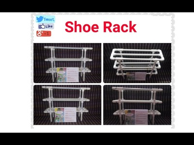 Easy, Stylish, Portable Washable & Affordable  Shoe Rack Made With Plastic Pipes