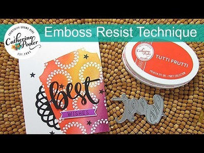 Emboss Resist Technique with Naturally Inspired SOA: Blog Hop #3