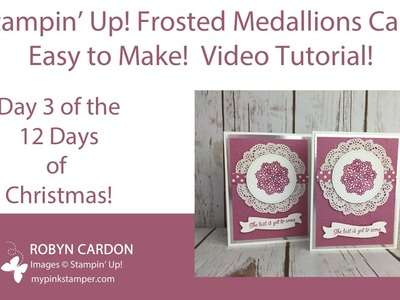 Episode 534 - Stampin' Up! Frosted Medallion Silver & Sugarplum Card
