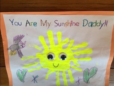 Father's Day Craft Sun Hand Print! Preschool.Kindergarten