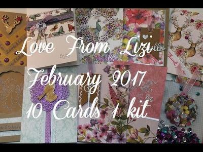 February 17 Love From Lizi Card Kit - 10 Cards 1 Kit