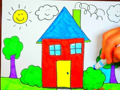 FOR KIDS: How To Draw A House