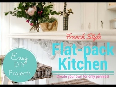 French Style Kitchen done with a flat-pack. DIY magic for under 8K!